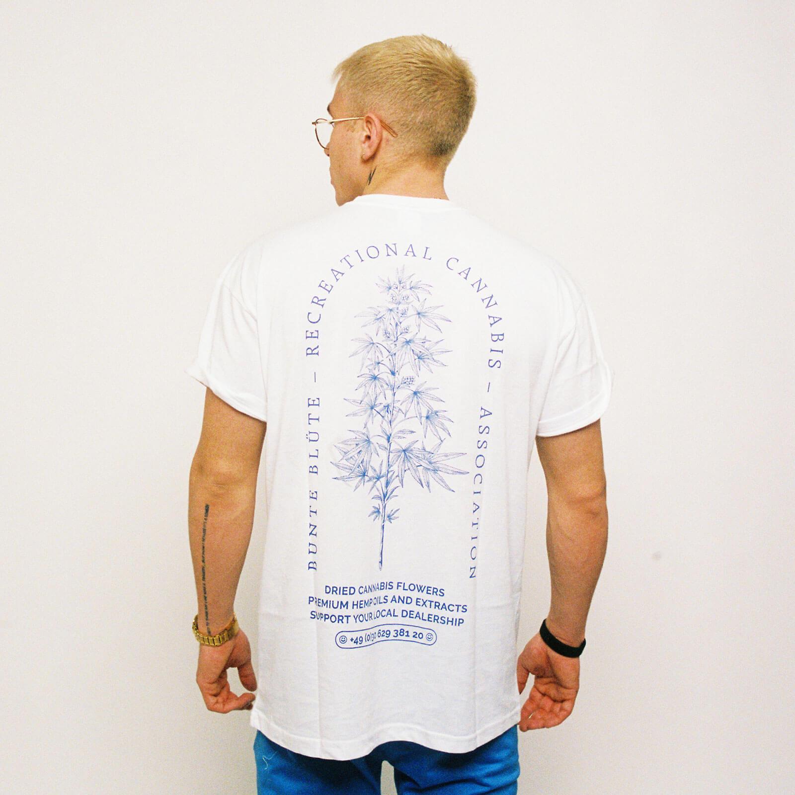bunte-bluete-cbd-cannabis-merch-tshirt-recreational-weiß-herren-hinten-kaufen